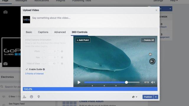أدوات جديدة على فيس بوك تخص مقاطع فيديو 360 درجة facebook video (3)