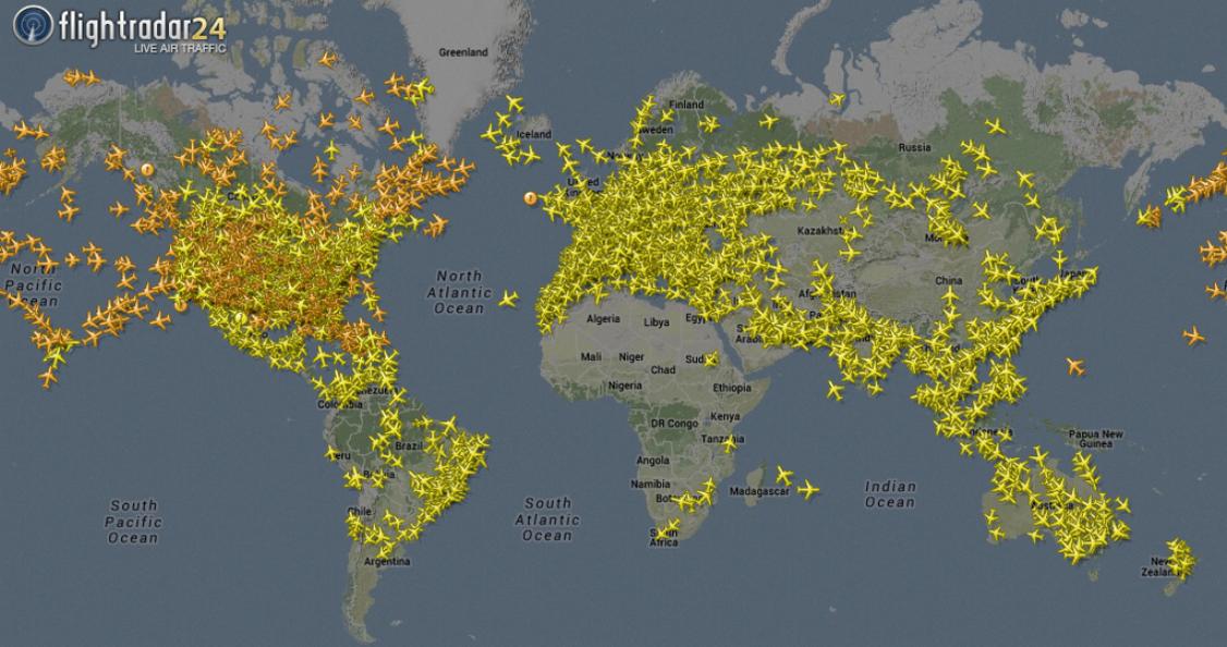 أفضل مواقع تتبع حركة الطائرات لحظة بلحظة