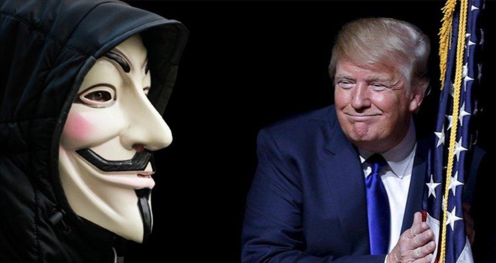 """""""أنونيموس"""" تهدد مرشح الرئاسة الأمريكية """"دونالد ترامب"""" Donald Trump"""