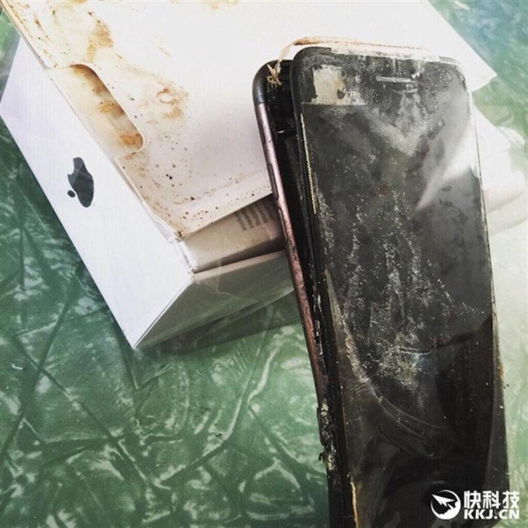 إنفجار هاتف آيفون 7 الجديد في الصين iPhone 7