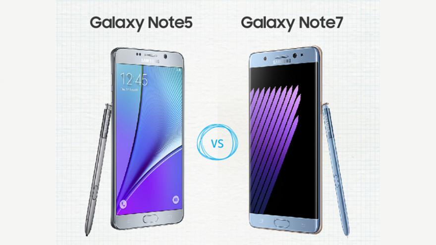 اكتشف الفرق بين هاتف جالاكسي نوت 7 Note وجالاكسي نوت Note 5