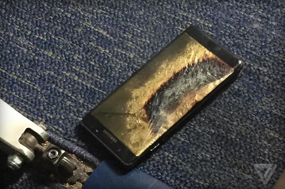 انفجار جالاكسي نوت 7 على متن طائرة Galaxy Note 7