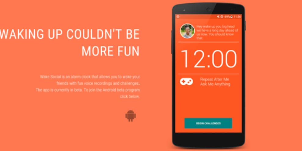 تطبيق رائع للنهوض صباحا بكل سهولة Wake Social