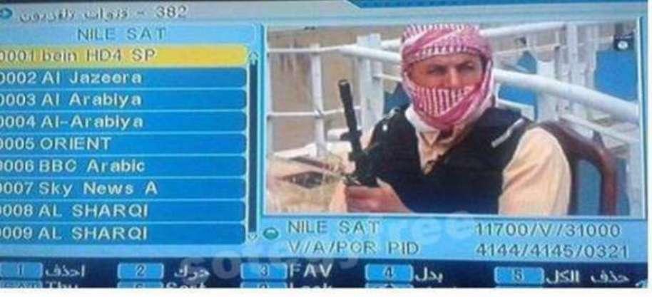 داعش تبث قناة على قمر النايلسات باختراق ترددات