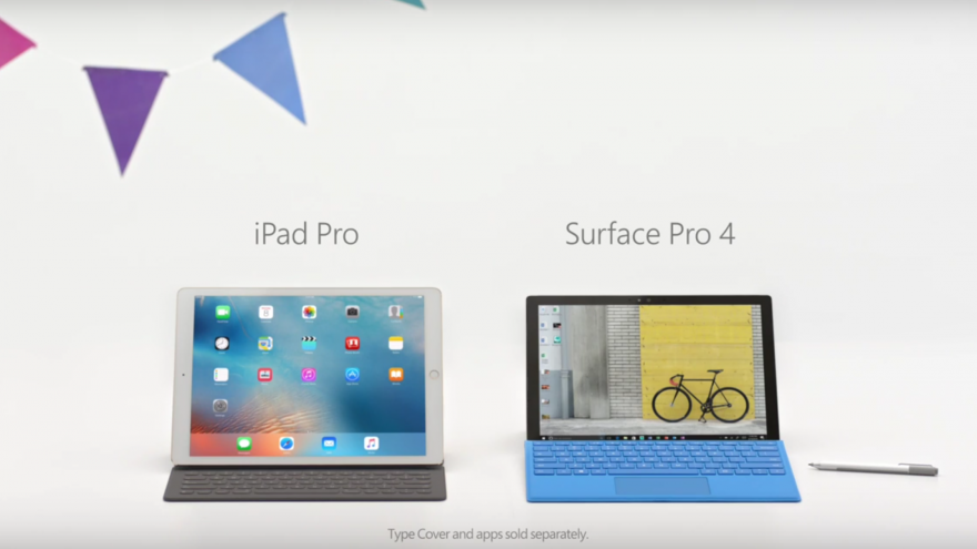 مايكروسوفت تسخر بقوة من آيباد برو iPad Pro