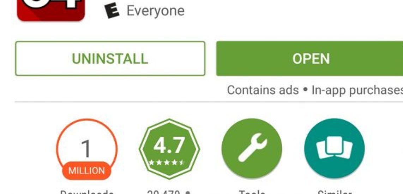 متجر جوجل بلاي يضيف علامة تميز التطبيقات التي تحتوي على الإعلانات Google play