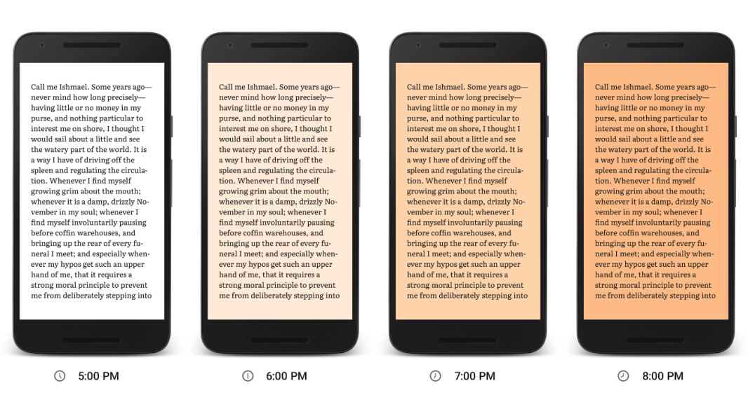 ميزة جديدة لتطبيق Play Books تجعل القراءة أفضل Night Light