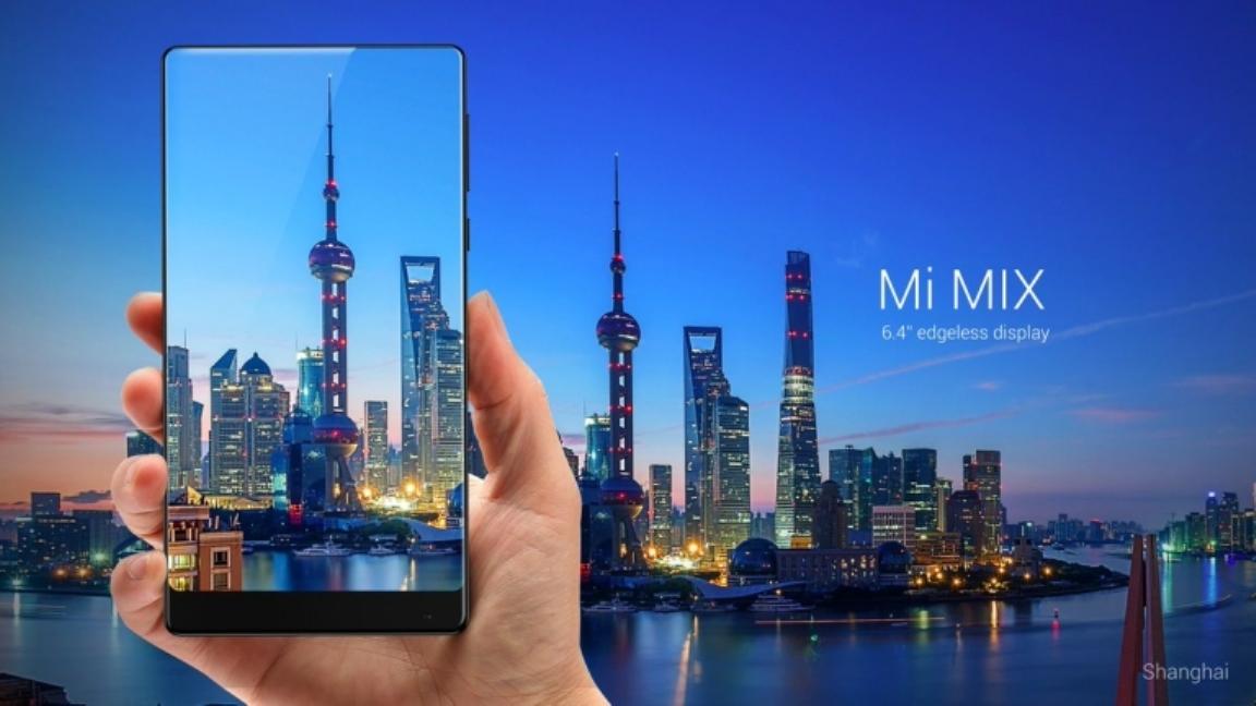 هاتف شاومي الجديدة Mi MIX بحواف رقيقة جدا