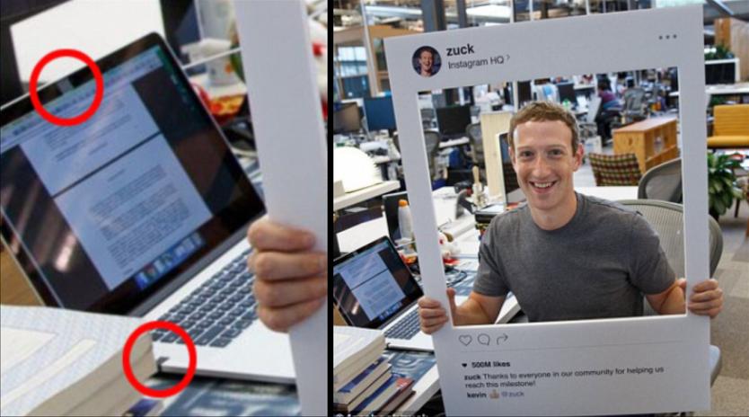 هذه هي الصورة التي آثارت الشكوك حول مدى آمان الفايسبوك Facebook