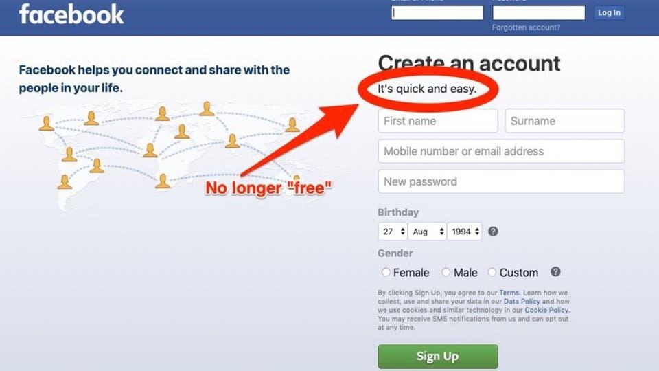 """هل سيصبح فايسبوك بالنقود بعد حذف شعار """"مجاني"""" ؟"""