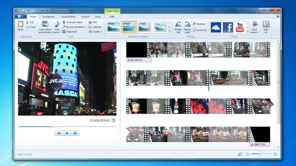 1. Windows movie make 2012