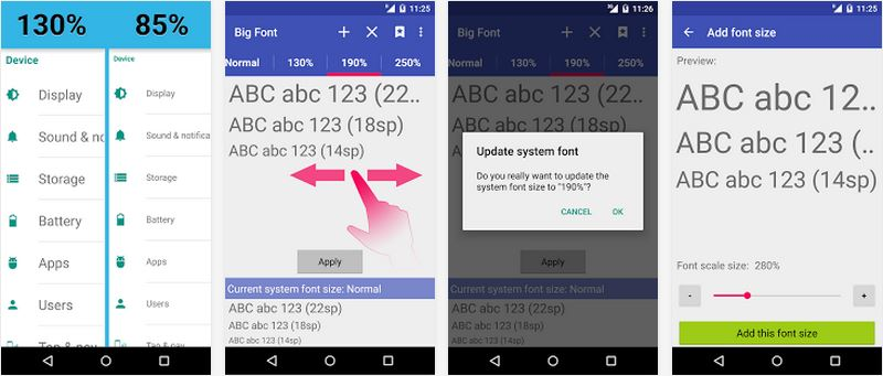 تطبيق Big Font للتكبير وتغيير خط هاتفك الأندرويد