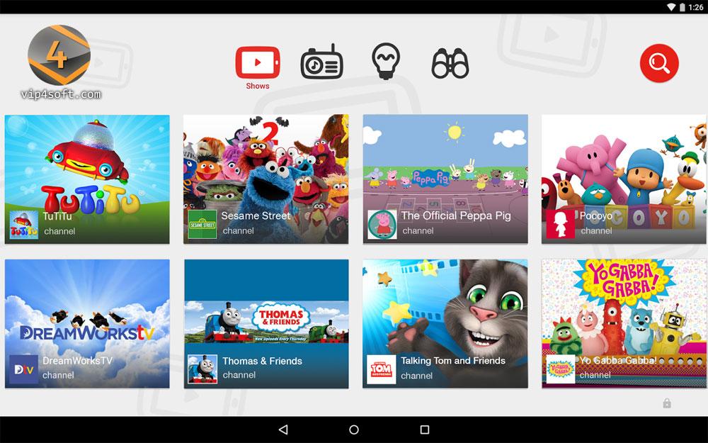 حمل تطبيق يوتيوب خاص بالأطفال على أندرويد و iOS